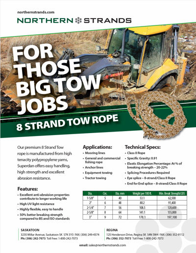 8 Strand Tow Rope