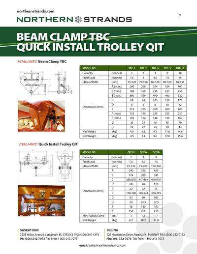 Beam Clamps & Trolleys