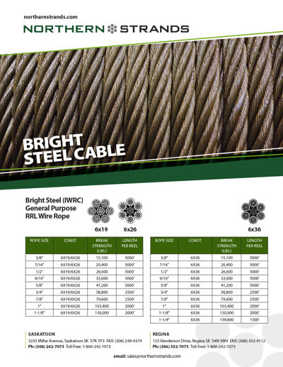 Bright Steel Cable