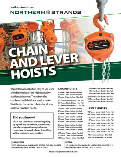 Chain Hoists and Lever Hoists