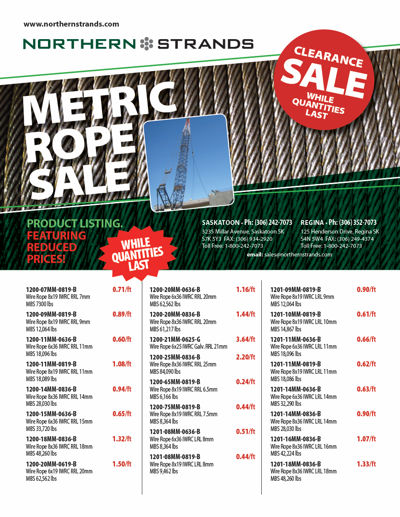 Metric Rope Clearance Flyer