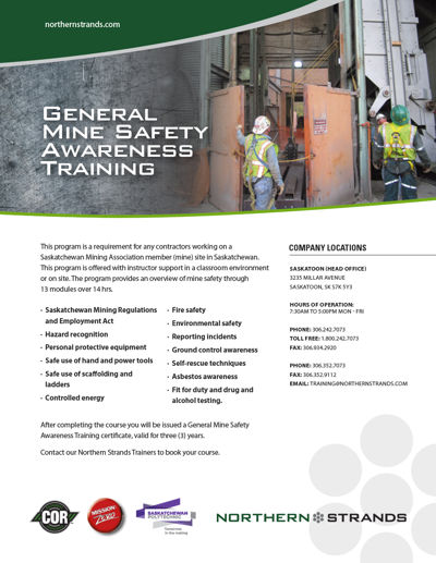 General Mine Safety Awareness Training